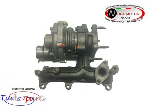 TURBOCOMPRESSORE TURBO TURBINA AUDI A2 SKODA FABIA POLO FOX 1.4 TDI 80 cv